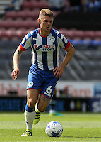 Wigan Athletic's Max Power in action during todays match  <br /> <br /> Photographer David Shipman/CameraSport<br /> <br /> Football - The EFL Sky Bet Championship - Wigan Athletic v Blackburn Rovers - Saturday 13th August 2016 - DW Stadium - Wigan<br /> <br /> World Copyright © 2016 CameraSport. All rights reserved. 43 Linden Ave. Countesthorpe. Leicester. England. LE8 5PG - Tel: +44 (0) 116 277 4147 - admin@camerasport.com - www.camerasport.com