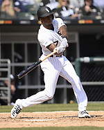 CHICAGO - APRIL 06:  Tim Anderson #7 of the Chicago White Sox bats against the Seattle Mariners on April 6, 2019 at Guaranteed Rate Field in Chicago, Illinois.  (Photo by Ron Vesely)  Subject:  Tim Anderson