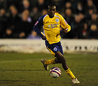Lloyd Dyer (Leicester) Hartlepool United vs Leicester City at Victoria Park Hartlepool Football League one<br /> 17/02/2009. Credit Colorsport / Darren Blackman
