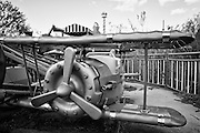 The Bugs Bunny Barnstormers ride at Six Flags in East New Orleans - five years later after Hurricane Katrina.