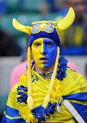 A general view of a Clermont Auvergne supporter - Photo mandatory by-line: Patrick Khachfe/JMP - Mobile: 07966 386802 02/05/2015 - SPORT - RUGBY UNION - London - Twickenham Stadium - ASM Clermont Auvergne v RC Toulon - European Rugby Champions Cup Final