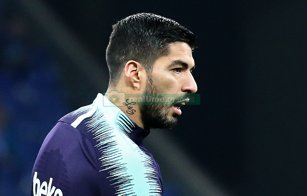December 8, 2018 - Barcelona, Catalonia, Spain - the new tattoo of Luis Suarez during the match between RCD Espanyol and FC Barcelona, corresponding to the week 15 of the spanish league, played at the RCD Espanyol Stadium on 08th December 2018 in Barcelona, Spain. Photo: Joan Valls/Urbanandsport /NurPhoto. (Credit Image: © Joan Valls/NurPhoto via ZUMA Press)