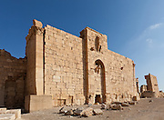 Arab Fortress 1123-4 at the Temple of Bel, Palmyra, Syria. Ancient city in the desert that fell into disuse after the 16th century.
