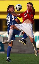 Damjan Oslaj (29) of Nafta vs Ivan Jolic (12) of Interblock at 7th Round of PrvaLiga Telekom Slovenije between NK Interblock vs NK Nafta Lendava, on September , 2008, in ZAK stadium in Ljubljana, Slovenia. Interblock won the match 3:1. (Photo by Vid Ponikvar / Sportal Images)