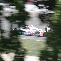 Detroit, MI - Jun 03, 2016:  The CORE autosport ORECA FLM09 Chevrolet races through the turns at the Detroit Grand Prix at Belle Isle Park in Detroit, MI.