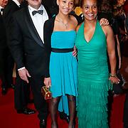 NLD/Amsterdam/20121218 - NOC/NSF Sportgala 2012, Nellie Cooman, partner Ronald Rosier en dochter Ronell