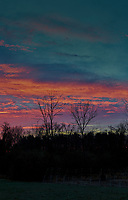 Colorful Clouds at Dawn. (3/4) Composite of eight images taken with a Leica SL2 camera and 50 mm f/1.4 lens (ISO 400, 50 mm, f/2.8, 1/80 sec). Raw images processed with Capture One Pro, and combined using AutoPano Giga Pro.