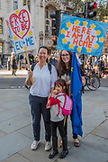 The People's Vote March For The Future demanding a Vote on any Brexit deal. The protest assembled on Park Lane and then marched to Parliament Square for speeches.