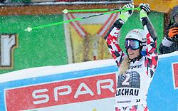 17.01.2016, Hermann Maier Weltcupstrecke, Flachau, AUT, FIS Weltcup Ski Alpin, Flachau, Damen, Riesenslalom, 2. Lauf, im Bild Eva-Maria Brem (AUT) // Eva-Maria Brem of Austria reacts after her 2nd run of Ladie's Giant Slalom for the FIS Ski Alpine World Cup at the Hermann Maier Weltcupstrecke in Flachau, Austria on 2016/01/17. EXPA Pictures © 2016, PhotoCredit: EXPA/ Erich Spiess