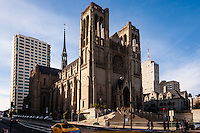 United States, California, San Francisco. Grace Cathedral. Nob Hill is one of San Franciscos 44 hills.