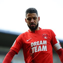 TELFORD COPYRIGHT MIKE SHERIDAN 23/3/2019 - Jobi McAnuff (captain) of Orient during the FA Trophy Semi Final fixture between AFC Telford United and Leyton Orient at the New Bucks Head