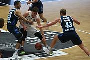 Basketball: Deutschland, 1. Bundesliga, Hamburg Towers -  Alba Berlin, Hamburg, 23.03.2021<br /> Johannes Thiemann (Alba, l.) - Maik Kotsar (Towers, r.)<br /> © Torsten Helmke