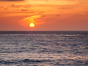 La Jolla Cove, San Diego, California.  Setting sun