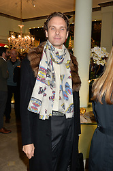 MICHELE CARDONE at the London debut of Nest - an organisation to promote peace and prosperity in partnership with artisans worldwide, held at Thomas Goode & Co, South Audley Street, London on 4th November 2014.