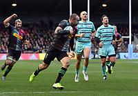 Rugby Union - 2019 / 2020 Gallagher Premiership - Harlequins vs. Gloucester<br /> <br /> Harlequins' Ross Chisholm scores his sides first try, at The Stoop.<br /> <br /> COLORSPORT/ASHLEY WESTERN