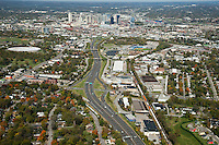 Aerial photo of the Nashville Skyline showing I-65 and Wedgewood Avenue in the foreground.