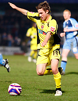Jamie Green of Rotherham United Wycombe Wanderers Vs Rotherham  United at Adams Park High Wycombe  Football League Div 2<br /> 23/02/2009. Credit Colorsport  / Kieran Galvin