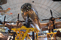 Enola Gay, U.S. Army Air Force Boeing B-29 Superfortress that dropped the first Atomic Bomb on Hiroshima, Japan on 06 August 1945, National Air and Space Museum's Steven F. Udvar-Hazy Center, Washington DC, USA.