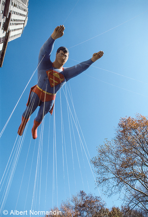 Superman, Macy's Thanksgiving Day Parade, New York City, New York, USA, November 1984