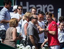 03.08.2013, Sportpark, Kitzbuehel, AUT, ATP World Tour, bet at home Cup 2013, Finale Einzel, im Bild Marcel Granollers (ESP) Jubelt nach seinem Tourniersieg // Marcel Granollers of Spain celebrate after winning the tournament during single Final of bet at home Cup 2013 tennis tournament of the ATP World Tour at the Sportpark in Kitzbuehel, Austria on 2013/08/03. EXPA Pictures © 2013, PhotoCredit: EXPA/ Johann Groder
