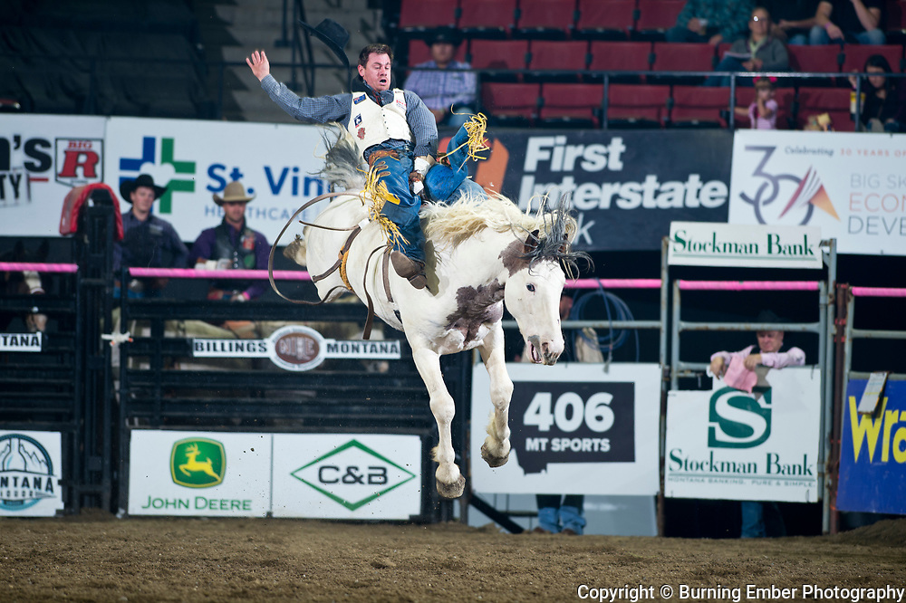 Jamie Howlett on Two Buck Church of Powder River Rodeo at the NILE Rodeo 2nd Perf Oct 18th, 2019.  Photo by Josh Homer/Burning Ember Photography.  Photo credit must be given on all uses.