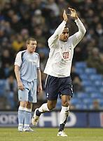 Photo: Aidan Ellis.<br /> Manchester City v Tottenham Hotspur. The Barclays Premiership. 17/12/2006.<br /> Spurs Tommy Huddlestone celebrates his goal and teams second