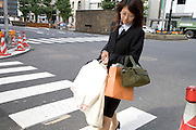 young female shopper in Tokyo Japan