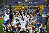 FOOTBALL - FRENCH LEAGUE CUP 2010/2011 - FINAL - OLYMPIQUE MARSEILLE v MONTPELLIER HSC - 23/04/2014 - PHOTO GUY JEFFROY / DPPI - CELEBRATION OM