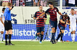 July 19, 2017 - Philadelphia, PA, USA - Philadelphia, PA - Wednesday July 19, 2017: Omar Gonzalez celebrates his goal during a 2017 Gold Cup match between the men's national teams of the United States (USA) and El Salvador (SLV) at Lincoln Financial Field. (Credit Image: © Brad Smith/ISIPhotos via ZUMA Wire)