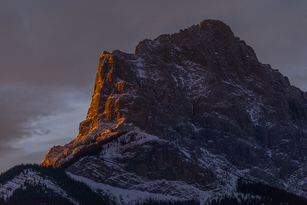 Little Sister at sunrise in Canmore, Alberta, Canada