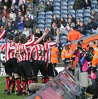Photo: Mark Stephenson.<br />West Bromwich Albion v Sunderland. Coca Cola Championship. 03/03/2007. Sunderland's Stern John celebrates his goal