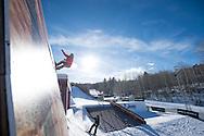 Emil Ulsletten during Snowboard Slopestyle Practice during 2015 X Games Aspen at Buttermilk Mountain in Aspen, CO. ©Brett Wilhelm/ESPN