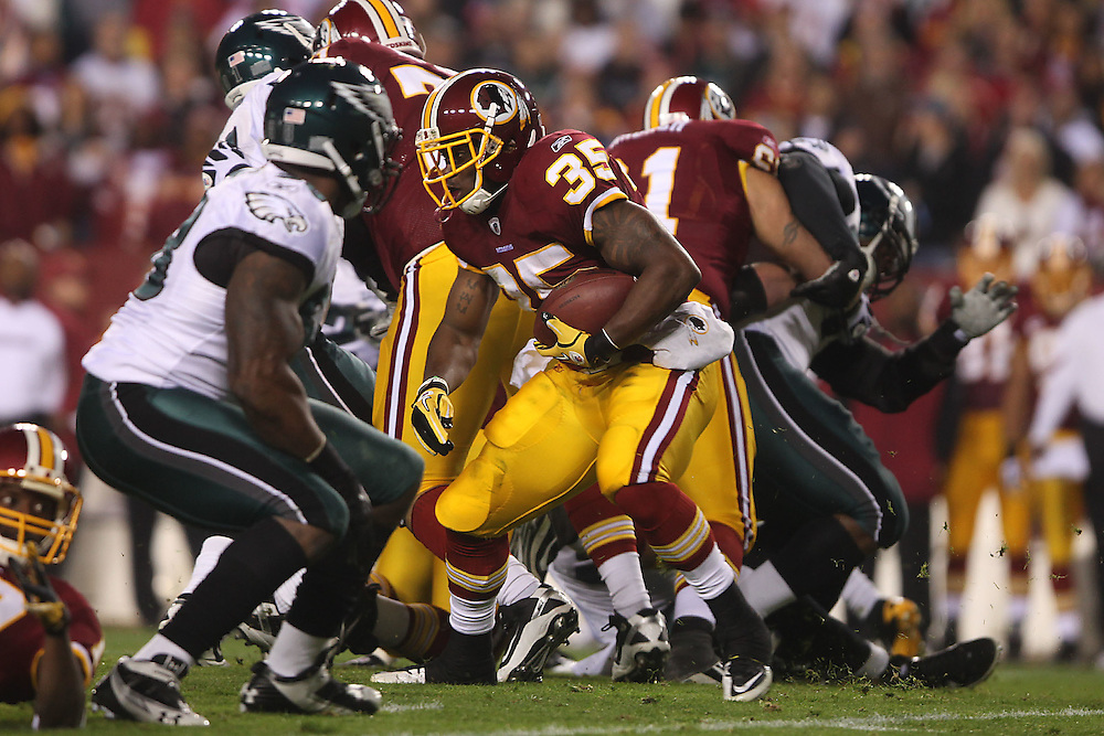 Landover, Md., Nov. 15, 2010 - Redskins vs. Eagles - Williams is stopped, 3 and out.  (Photo by  Jay Westcott/TBD)