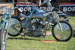Christian Sosa's 1950 Harley-Davidson Panhead at the Born Free 9 Motorcycle Show. Costa Mesa, CA. USA. Friday June 23, 2017. Photography ©2017 Michael Lichter.