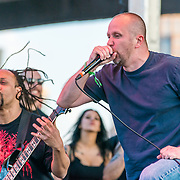 BALTIMORE United States - May 22, 2015: Frank Mullen and Terrance Hobbs of Suffocation perform at Maryland Deathfest