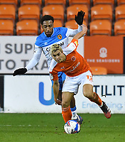 Blackpool's Kenny Dougall battles with Hull City's Mallik Wilks<br /> <br /> Photographer Dave Howarth/CameraSport<br /> <br /> The EFL Sky Bet League One - Blackpool v Hull City - Tuesday 15th December 2020 - Bloomfield Road - Blackpool<br /> <br /> World Copyright © 2020 CameraSport. All rights reserved. 43 Linden Ave. Countesthorpe. Leicester. England. LE8 5PG - Tel: +44 (0) 116 277 4147 - admin@camerasport.com - www.camerasport.com