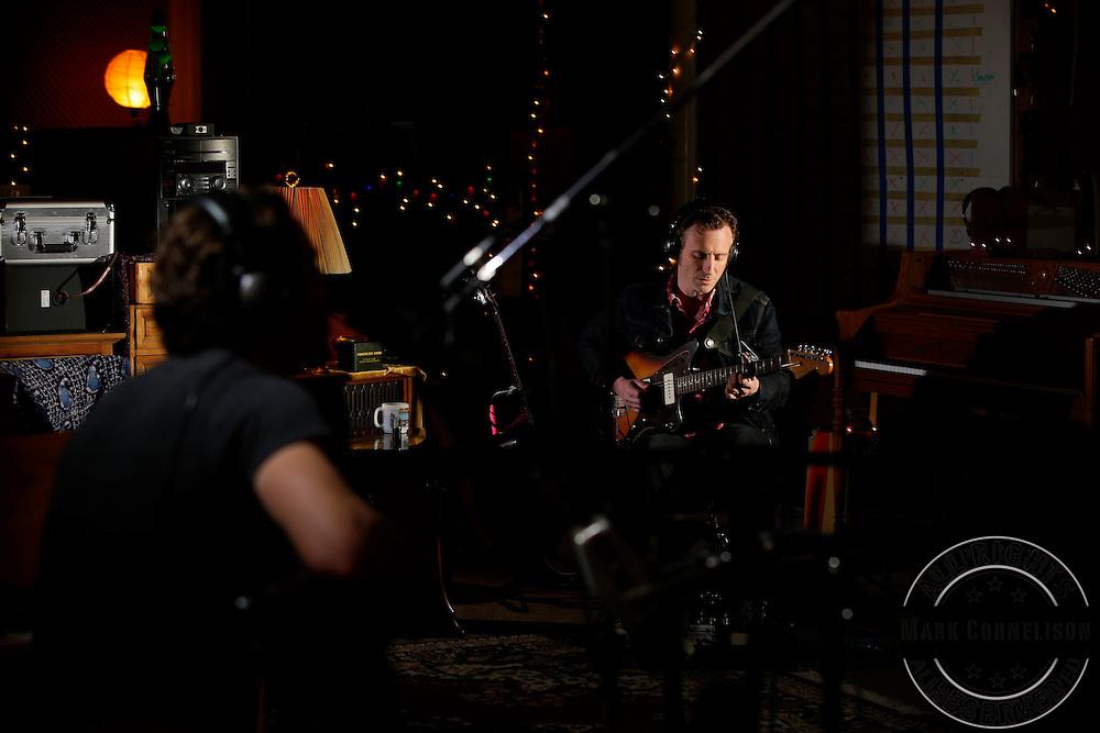 Joe Pug in studio on Tuesday April 1, 2014  in Lexington, Kentucky . Photo by Mark Cornelison
