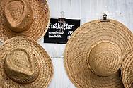 Straw hats at Rosendals trägård.
