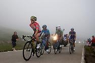 Simon Yates (GBR, Mitchelton Scott), Nairo Quintana (COL, Movistar), Alejandro Valverde (ESP, Movistar) and Enric Mas (ESP, QuickStep Floors) during the 73th Edition of the 2018 Tour of Spain, Vuelta Espana 2018, Stage 15 cycling race, 15th stage Ribera de Arriba - Lagos de Covadonga 178,2 km on September 9, 2018 in Spain - Photo Luca Bettini/ BettiniPhoto / ProSportsImages / DPPI