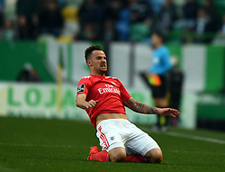 LISBON, Feb. 4, 2019  Haris Seferovic of Benfica celebrates after scoring during the Portuguese League soccer match between SL Benfica and Sporting CP in Lisbon, Portugal, Feb. 3, 2019. Benfica won 4-2. (Credit Image: © Xinhua via ZUMA Wire)