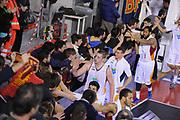 DESCRIZIONE : Roma Lega A 2014-15 Acea Roma Grissin Bon Reggio Emilia<br /> GIOCATORE : Maxime De Zeeuw<br /> CATEGORIA : esultanza postgame post game<br /> SQUADRA : Acea Roma<br /> EVENTO : Campionato Lega A 2014-2015<br /> GARA : Acea Roma Grissin Bon Reggio Emilia<br /> DATA : 16/03/2015<br /> SPORT : Pallacanestro <br /> AUTORE : Agenzia Ciamillo-Castoria/G.Masi<br /> Galleria : Lega Basket A 2014-2015<br /> Fotonotizia : Roma Lega A 2014-15 Acea Roma Grissin Bon Reggio Emilia