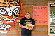 Han Ly Hwang, owner of King Jong Grillin, a food cart in Southeast Portland that serves up Korean style food.