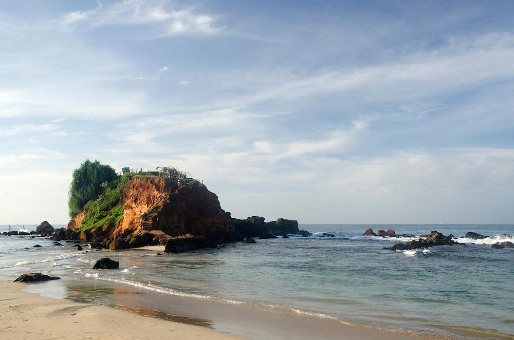 Rocky beach in Mirissa, Sri Lanka