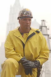 April 29, 2014 - New York, NY, United States of America - Portrait of a volunteer iron worker as the recovery of victims amongst the wreckage of the World Trade Center continues in the aftermath of a massive terrorist attack which destroyed the twin towers killing 2,606 people September 19, 2001 in New York, NY. (Credit Image: © Andrea Booher/Planet Pix via ZUMA Wire)