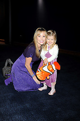 """AMANDA HOLDEN and her daughter LEXI at a VIP Opening night of Disney & Pixar's """"Finding Nemo on Ice"""" at The O2 Arena Grennwich London on 23rd October 2008."""