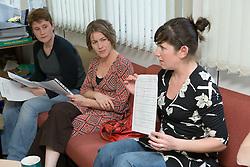 Teachers in a primary school staff meeting,