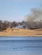 Prescribed Burn at Oak Ridge Waterfowl Production Area in Western Wisconsin