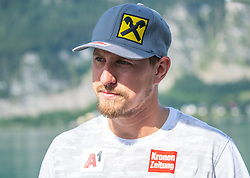 17.07.2019, Sankt Gilgen, AUT, OeSV, Pressetermin Herren Speed Team, Wasserskifahren und Wakesurfen beim Wolfgangsee, im Bild Max Franz // Max Franz during a press conference of the Austrian Ski Association (OeSV), Mens Speed Team waterskiing and wakesurfing at the Wolfgangsee Sankt Gilgen, Austria on 2019/07/17. EXPA Pictures © 2019, PhotoCredit: EXPA/ Johann Groder