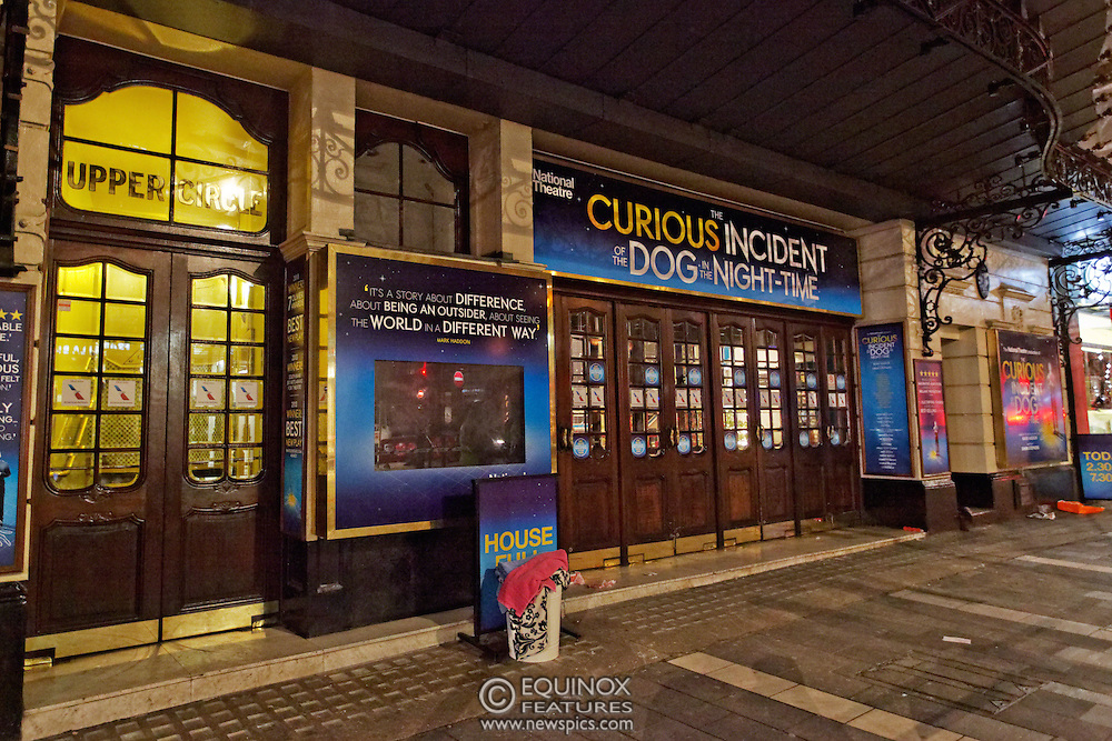 London, United Kingdom - 20 December 2013<br /> The cordoned off Apollo Theatre who's roof collapsed earlier in the evening injuring around 80 people, Shaftesbury Avenue, Soho, London, England, UK.<br /> Contact: Equinox News Pictures Ltd. +448700780000 - Copyright: ©2013 Equinox Licensing Ltd. - www.newspics.com<br /> Date Taken: 20131220 - Time Taken: 030437+0000