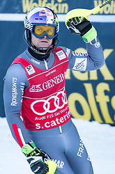 29.12.2016, Deborah Compagnoni Rennstrecke, Santa Caterina, ITA, FIS Ski Weltcup, Santa Caterina, alpine Kombination, Herren, Slalom, im Bild Alexis Pinturault (FRA, 1. Platz) // race winner Alexis Pinturault of France reacts after his run of Slalom competition for the men's Alpine combination of FIS Ski Alpine World Cup at the Deborah Compagnoni race course in Santa Caterina, Italy on 2016/12/29. EXPA Pictures © 2016, PhotoCredit: EXPA/ Johann Groder